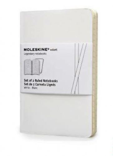Volant Large White Ruled Notebook (Set of 2)